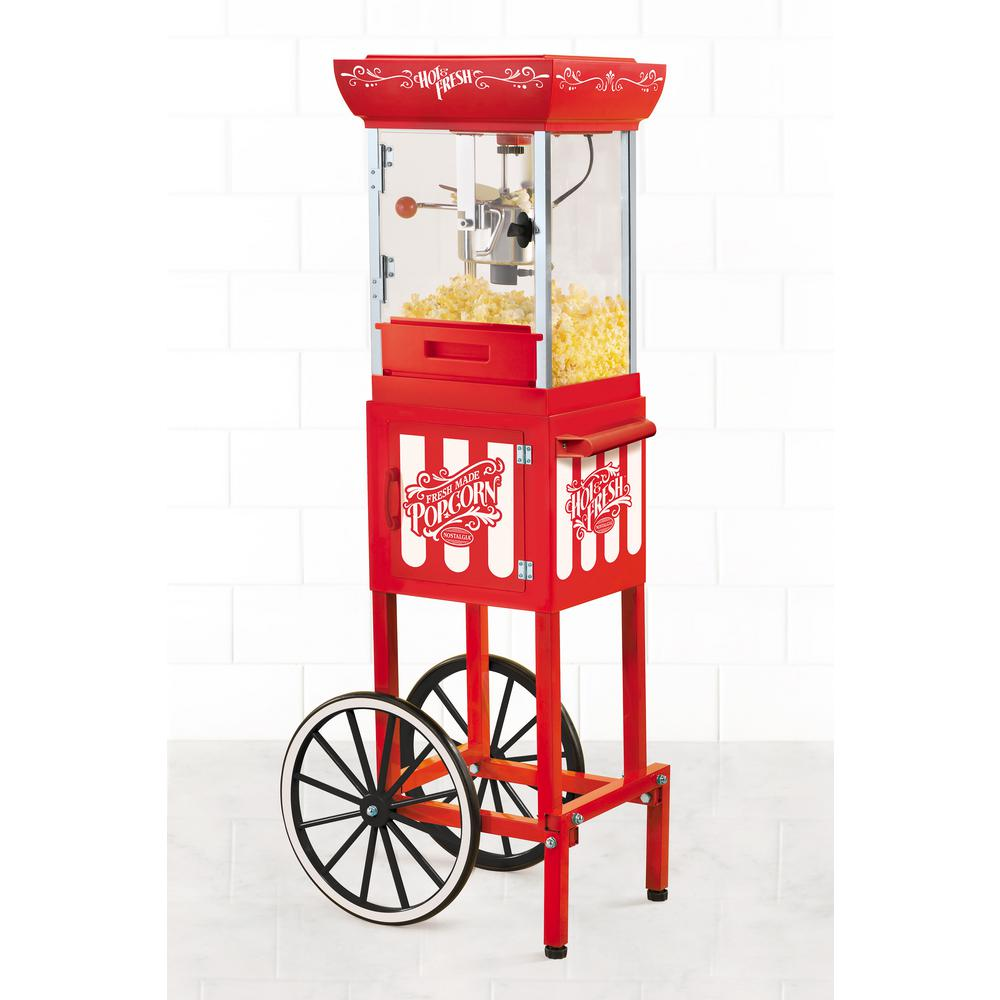 Nostalgia Vintage 2.5 oz. Popcorn Machine and Cart