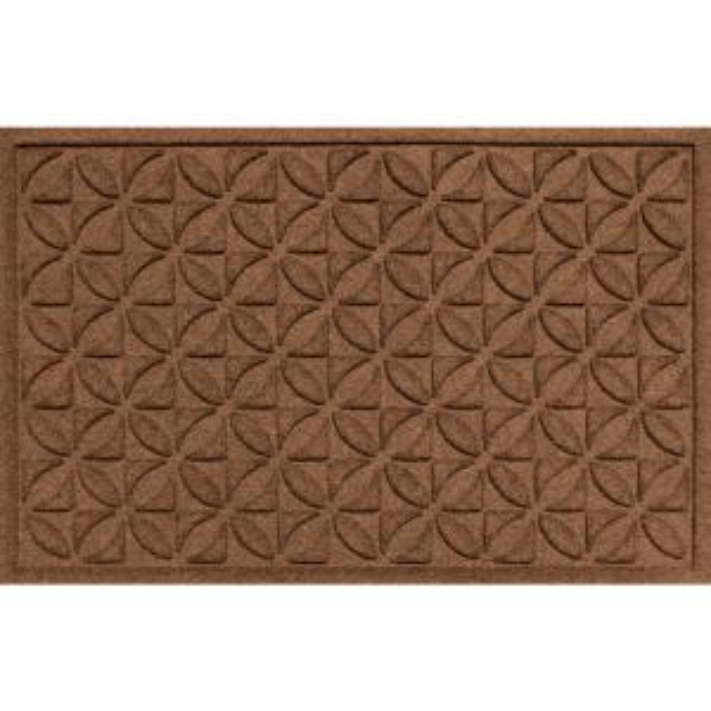 Aqua Shield Heritage Dark Brown 24 In. X 36 In. Polypropylene Door Mat 20540520023    The Home Depot