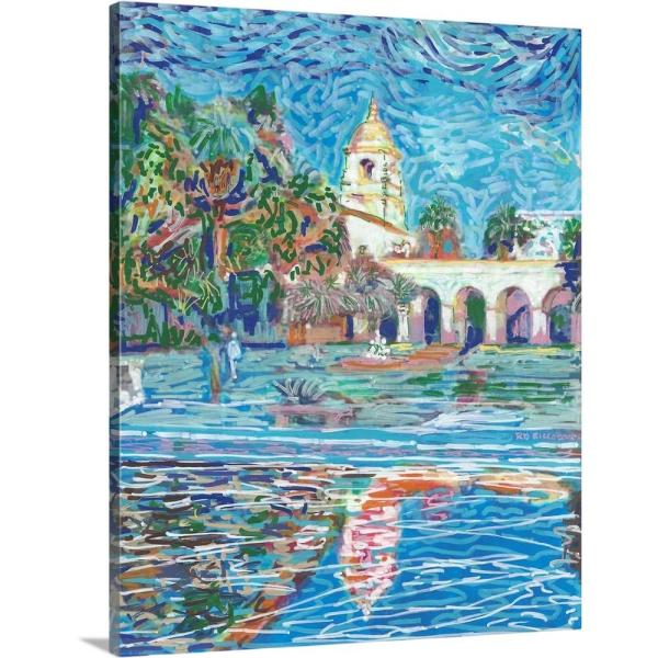 Greatbigcanvas Balboa Park Casa Del Prado Theater Tower By Randy Riccoboni Canvas Wall Art 2539347 24 24x30 The Home Depot
