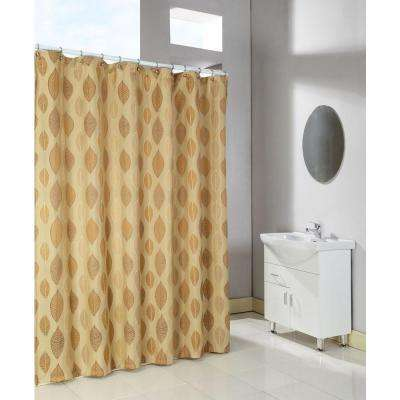 Canyon 72 in. Shower Curtain in Natural Tan