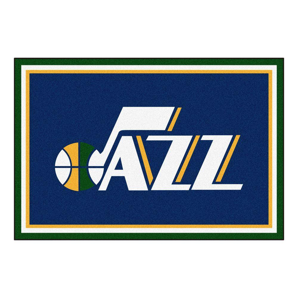 Fanmats Utah Jazz 5 Ft X 8 Ft Area Rug 9427 The Home Depot