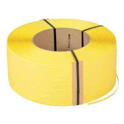 12,900 ft. Roll 9 in. x 8 in. Core Yellow Poly Strapping
