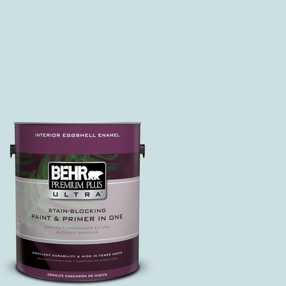 BEHR Premium Plus Ultra 1 gal. #S450-1 Beach Foam Eggshell Enamel Interior Paint and Primer in One