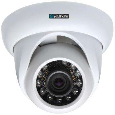 Wired 600 TVL Indoor IR Dome 3.6 mm 65 ft. IR Range Vandal Proof Surveillance Camera