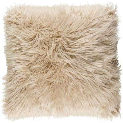 Camberwell Khaki Solid Polyester 22 in. x 22 in. Throw Pillow