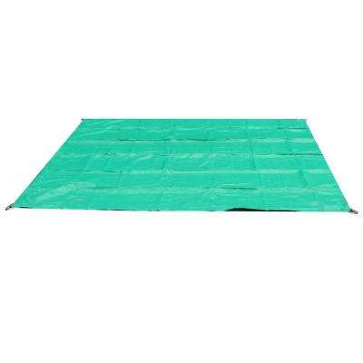10 ft. W x 10 ft. D Green Quadrilateral Sun Shade Sail