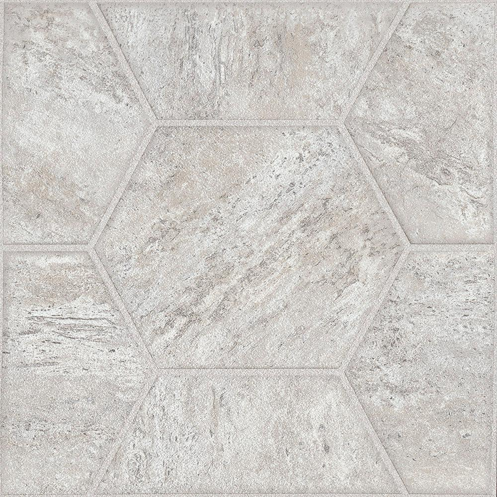 Armstrong lattice cream 12 in width x 12 in length residential peel and stick vinyl tile