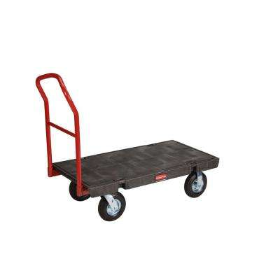 24 in. x 48 in. Heavy Duty 1000 lb. Platform Truck with 8 in. Pneumatic Casters