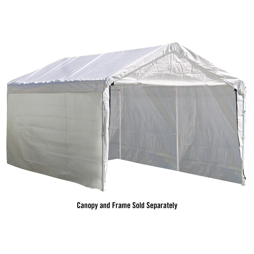 Enclosure Kit for Super Max 10 ft. x 20 ft. White Canopy (Canopy  sc 1 st  The Home Depot : parts of a canopy - memphite.com