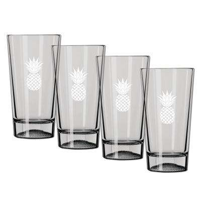 Kraftware Kasualware Pineapple 16 oz. Pint Glass (Set of 4) by Pint Glasses