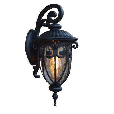 Hailee 1-Light Matte Black Outdoor Exterior Wall Lantern
