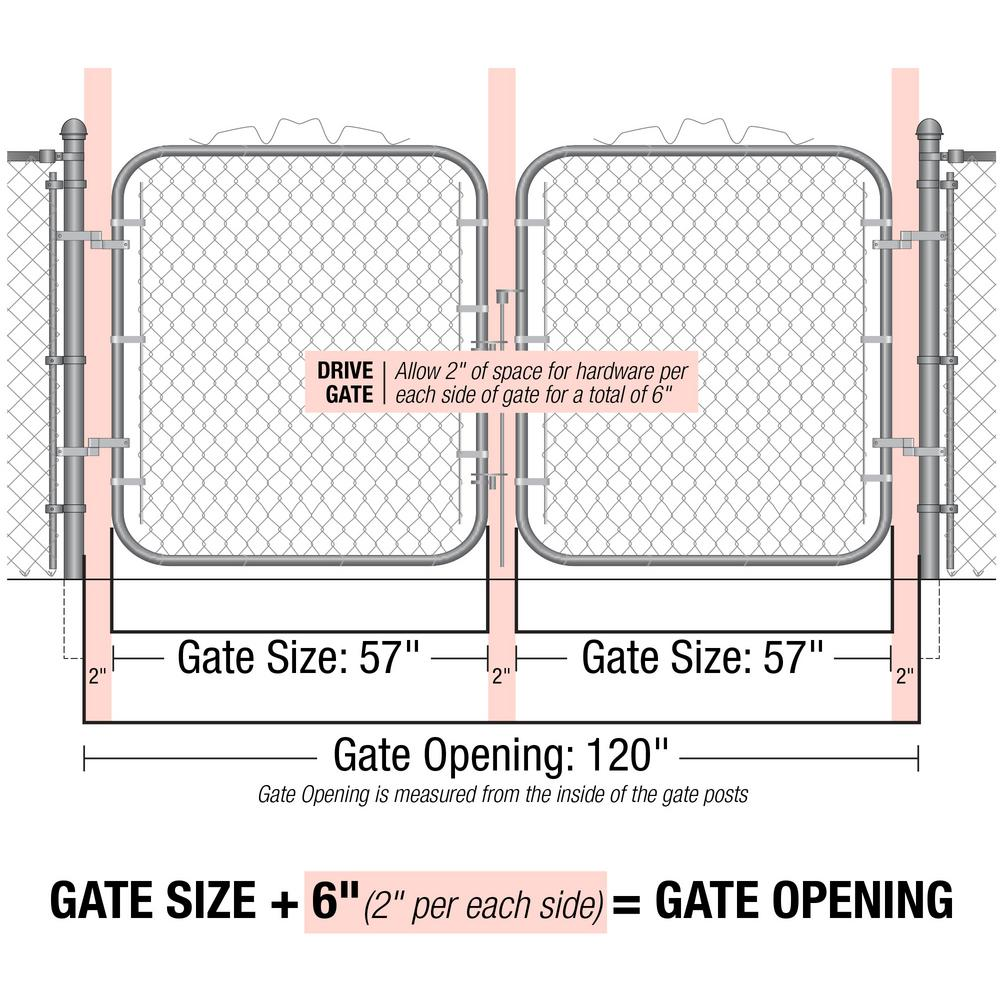 Yardgard 10 Ft W X 6 H 2 Panels Drive Through Steel Gate