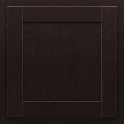 San Mateo 13 in. x 12-7/8 in. Cabinet Door Sample in Duraform Espresso
