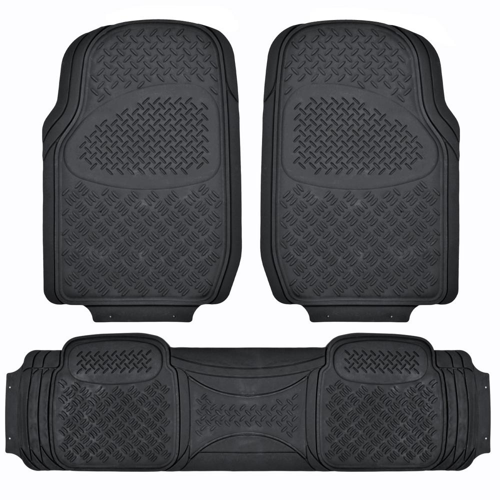 All Weather MT-713 Black Heavy Duty 3-Piece Car or SUV or