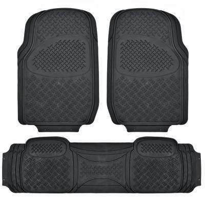 All Weather MT-713 Black Heavy Duty 3-Piece Car or SUV or Truck Floor Mats