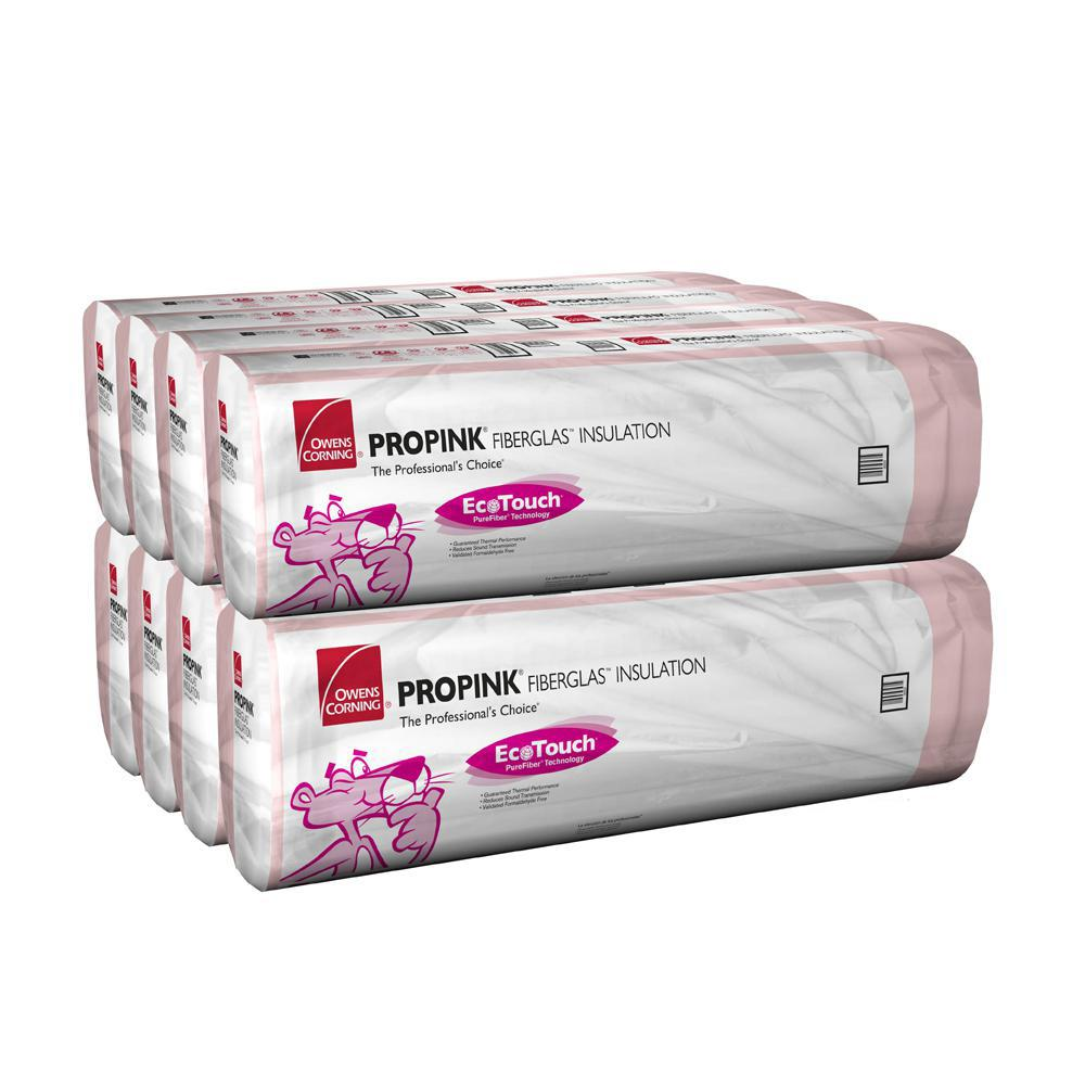 Owens Corning R-38C Kraft Faced Fiberglass Insulation Batts 15-1/2 in. x 48 in. (8-Bags)
