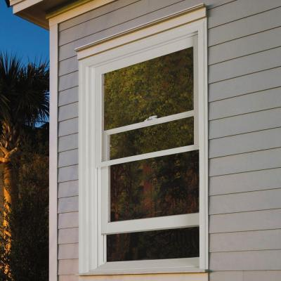 37.375 in. x 64.5 in. W-2500 Series Primed Wood Double Hung Window w/ Natural Interior and Low-E Glass
