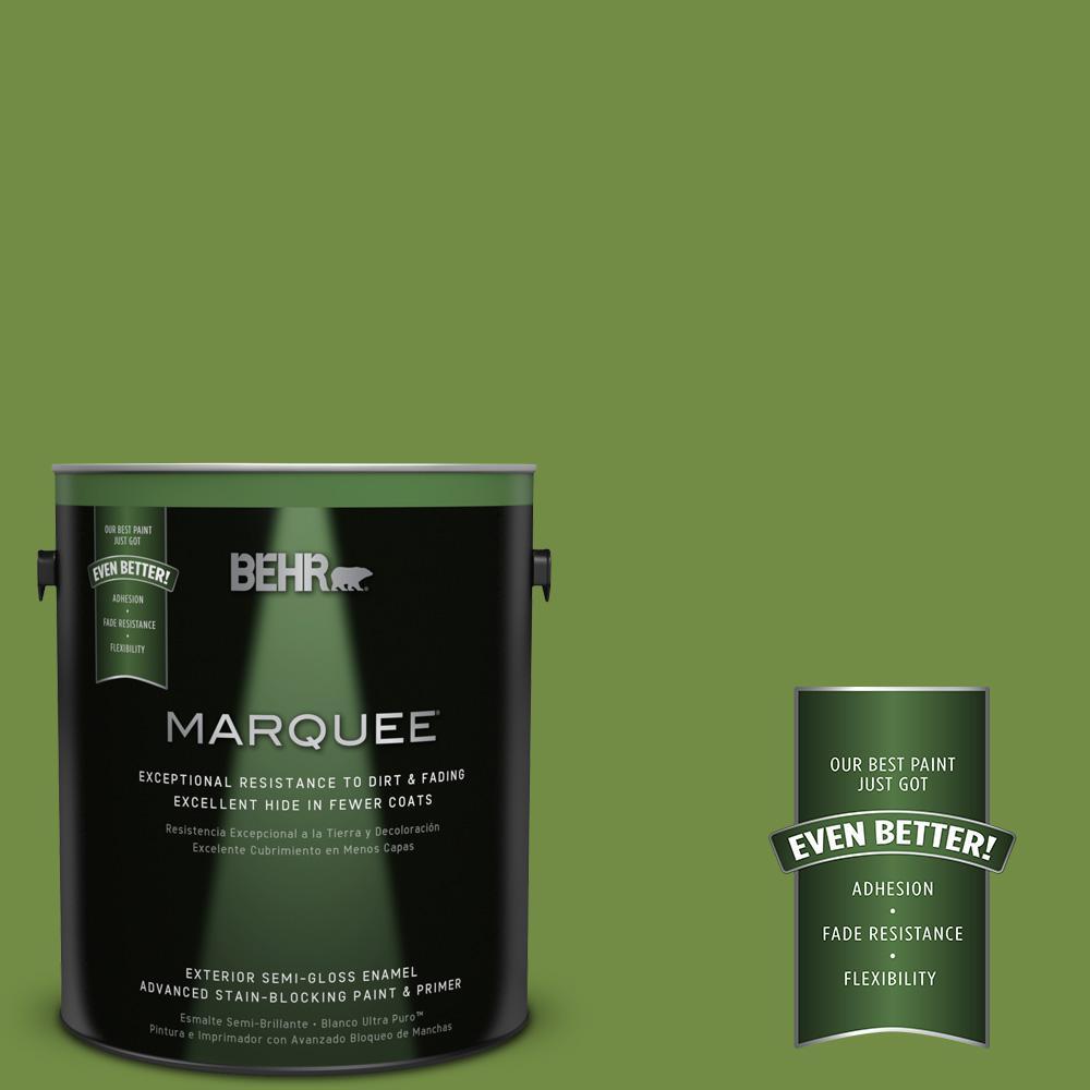 1-gal. #420D-6 Thyme Green Semi-Gloss Enamel Exterior Paint