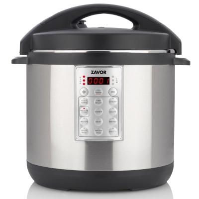 Select 8 Qt. Stainless Steel Electric Pressure Cooker with Removable Pot