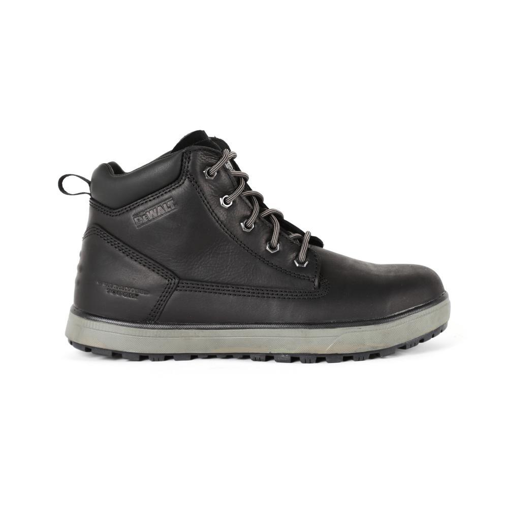 b3d3945836d DEWALT Helix Men's Size 11 Black Leather Steel Toe 6 in. Work Boot ...