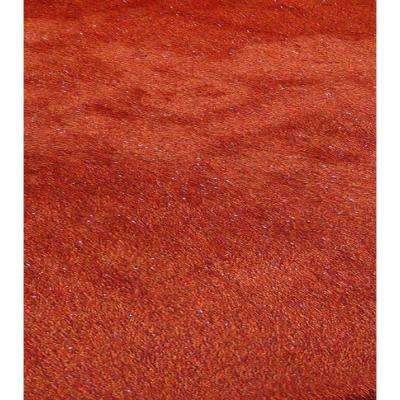 """""""Fancy Shaggy"""" Hand Tufted Area Rug in Red (5-ft x 7-ft)"""