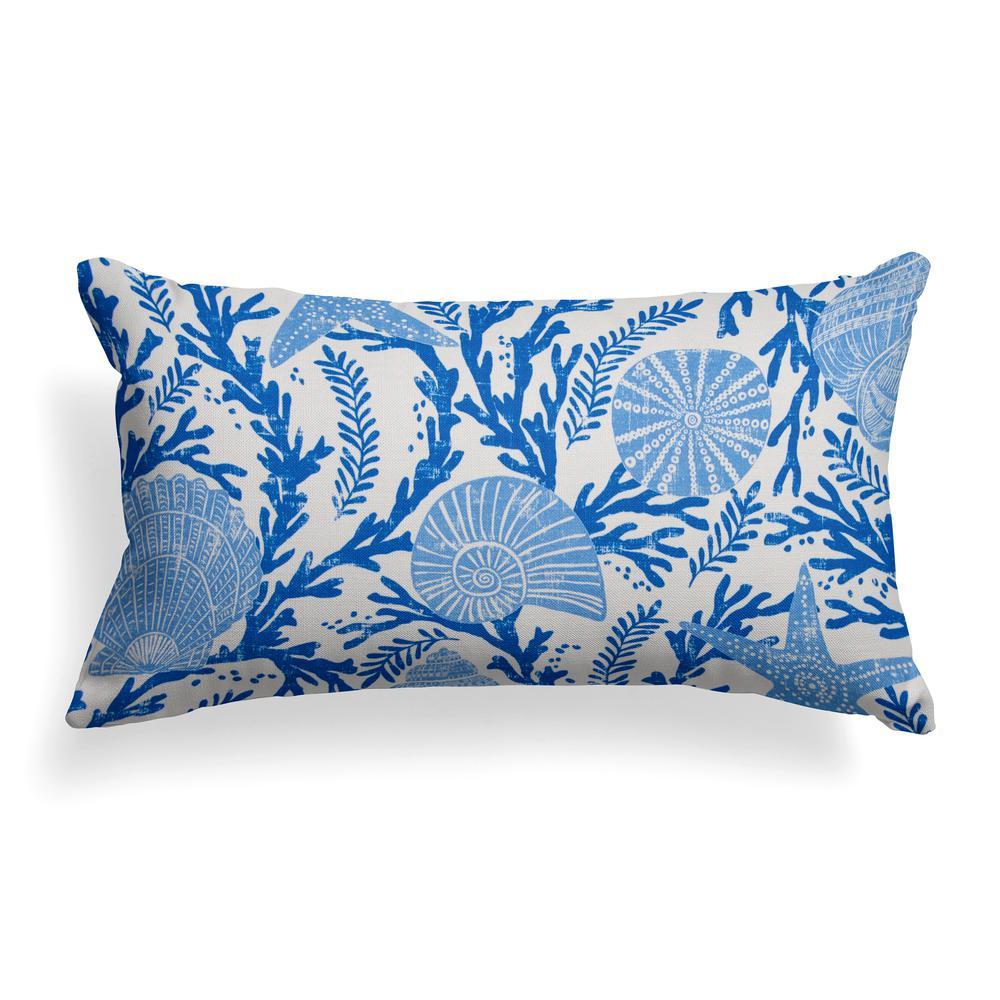 Grouchy Goose Coral Reef Rectangular Lumbar Outdoor Throw Pillow