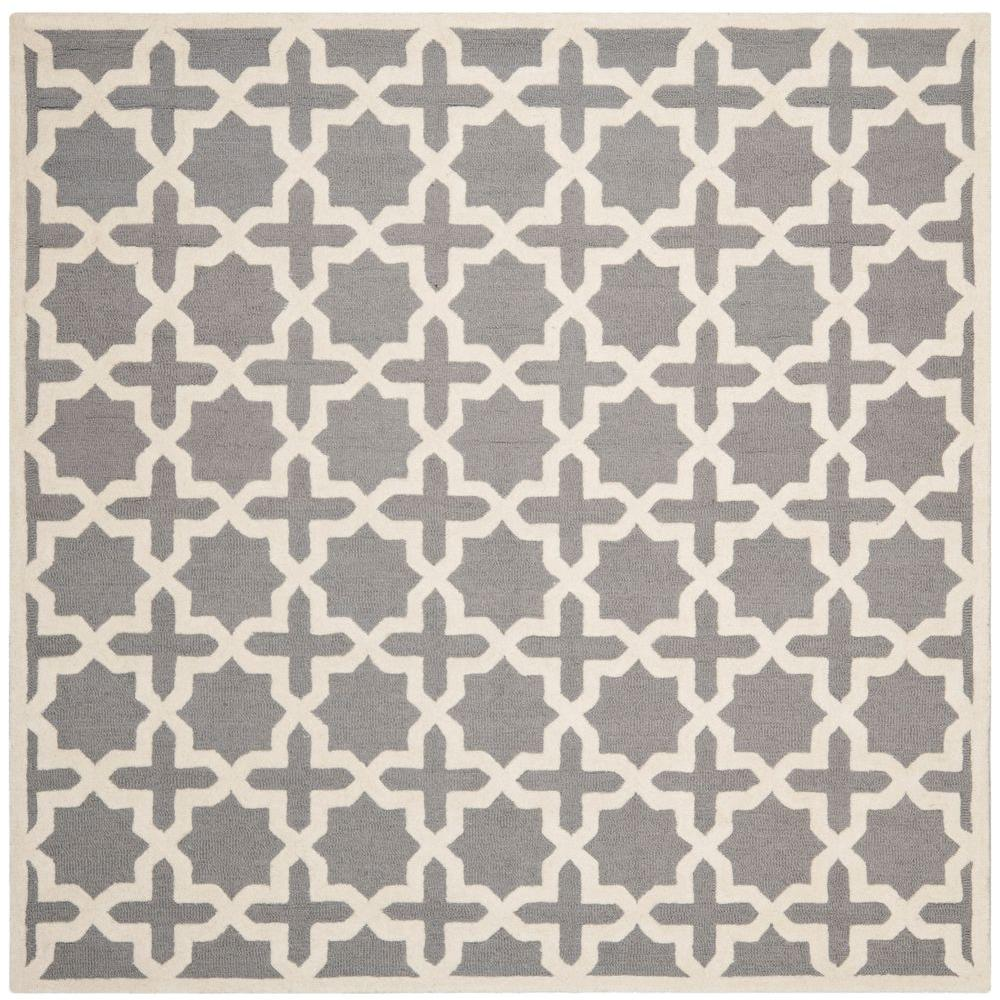 Safavieh Cambridge Silver/Ivory 6 ft. x 6 ft. Square Area Rug