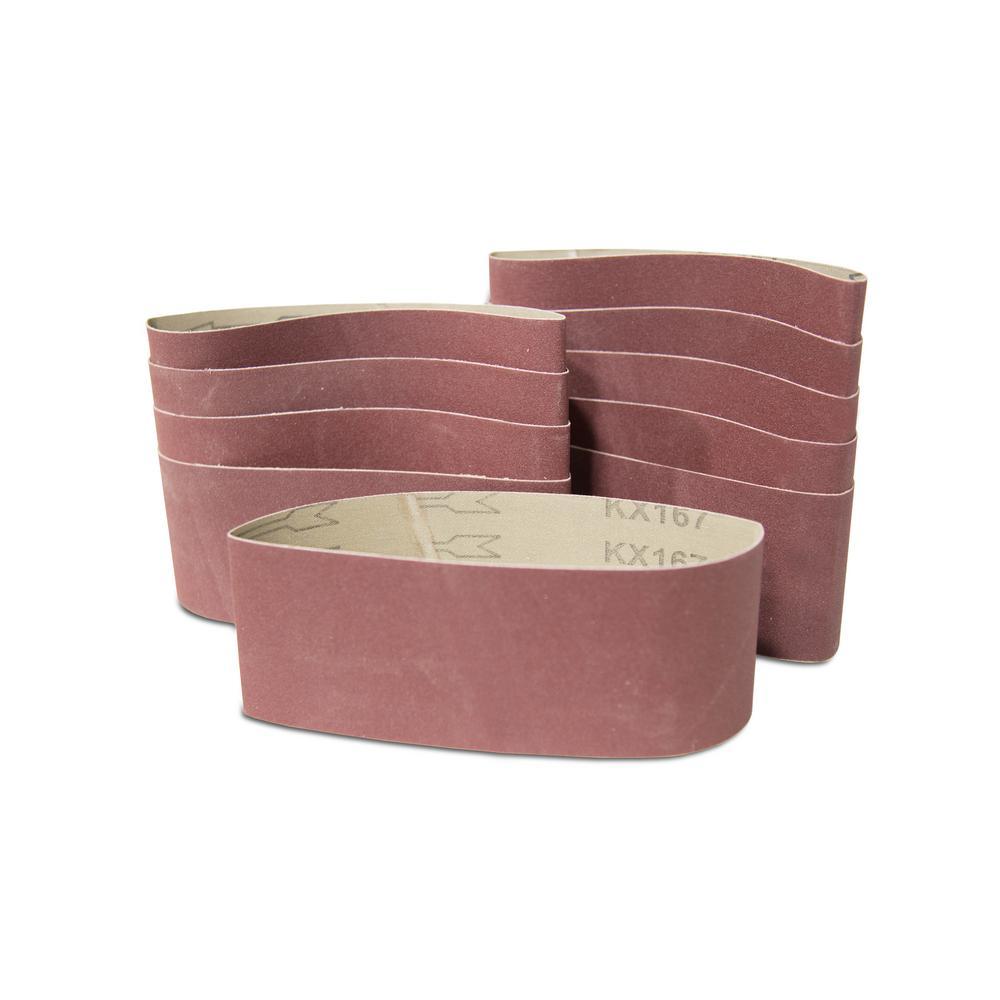 120-Grit 3 x 21-Inch Sanding Belt Sandpaper (10 Pack)