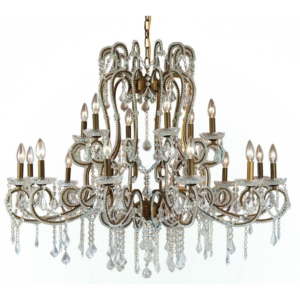 Filament Design Xavier 18-Light Gold Chandelier