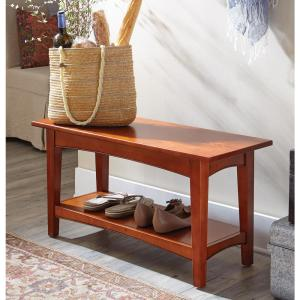 Alaterre Furniture Cherry Storage Bench by Alaterre Furniture