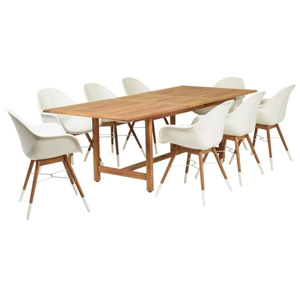 Amazonia Charlotte 9-Piece Wood Rectangular Outdoor Dining Set