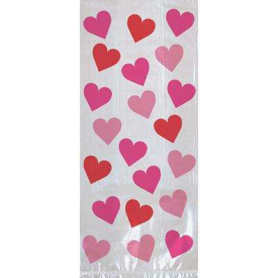 11.5 in. x 5 in. x 3.25 in. Valentine's Day Key To Your Heart Large Cello Bag (20-Count 5-Pack)
