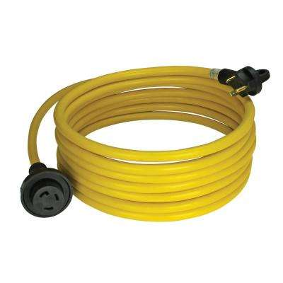30 Amp 25 ft. RV Cord Grip Handle Plug with Twist Lock and Light