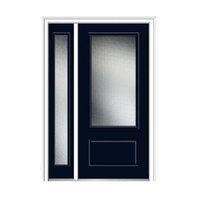1 Panel Blue Front Doors Exterior Doors The Home Depot