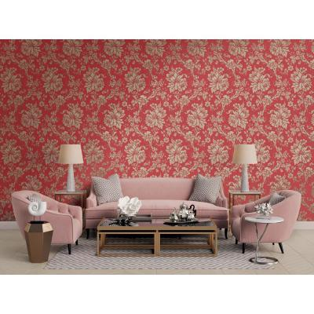 Yara Red Floral Wallpaper