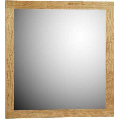 Shaker 30 in. W x .75 in. D x 32 in. H Framed Mirror in Natural Alder
