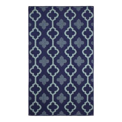 Yapi Navy 2 ft. x 4 ft. Area Rug