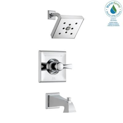 Dryden 1-Handle 1-Spray Tub and Shower Faucet Trim Kit in Chrome with H2Okinetic Technology (Valve Not Included)