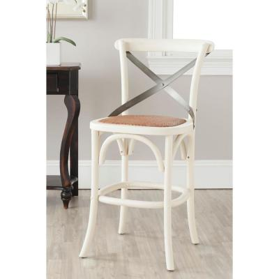 Eleanor 24.4 in. Ivory Bar Stool