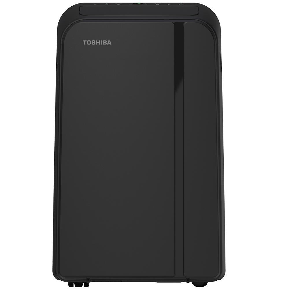 14,000 BTU (9,000 BTU, DOE) 115-Volt Portable Air Conditioner with Dehumidifier and Remote in Black