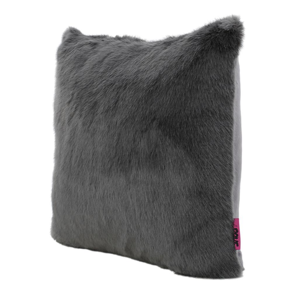 Lindsey Dark Grey Polyester Fiber Standard Deco Pillow