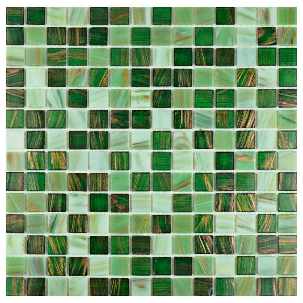 Merola Tile Coppa Forest 12 in. x 12 in. x 4 mm Glass Mosaic Tile