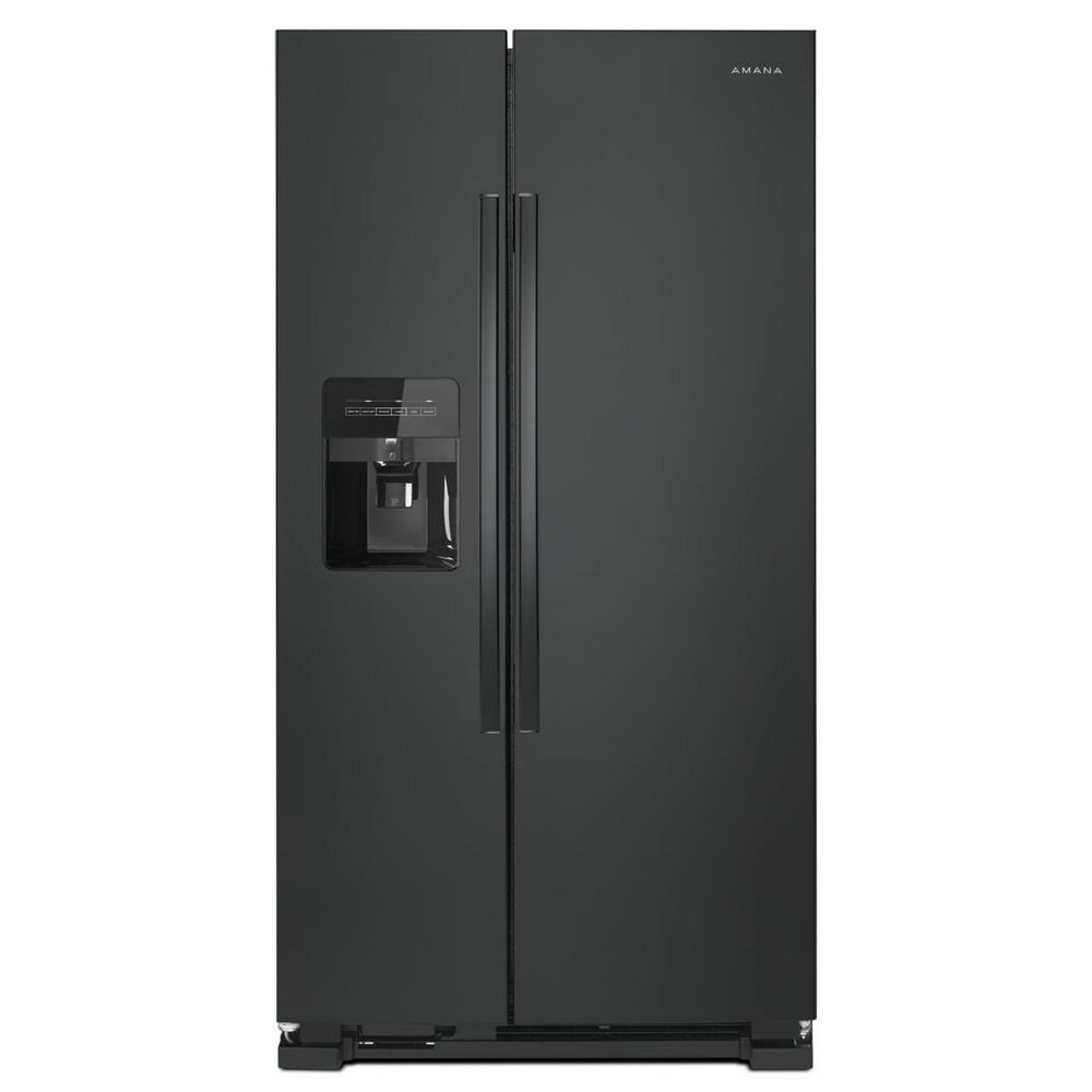 Side By Refrigerator With Dual Pad External Ice And