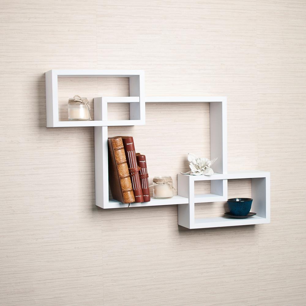 DANYA B 26.5 In. X 19 In. White Laminated Intersecting