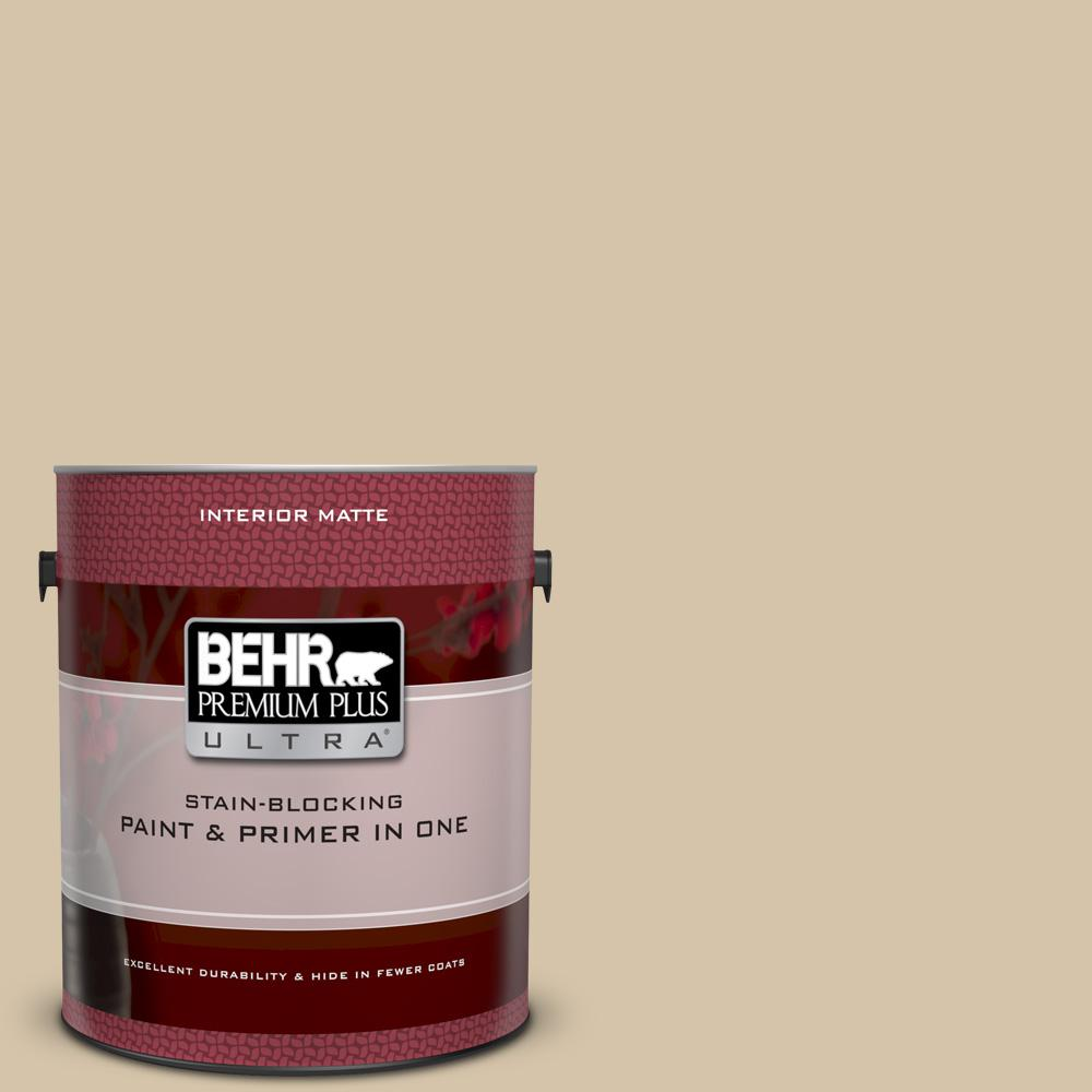 Behr Premium Plus Ultra 1 Gal Icc 60 Brown Bread Matte Interior Paint