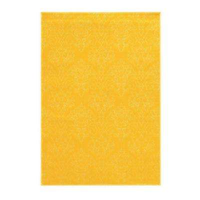 Prisma Chloe Yellow And White 8 Ft. X 10 Ft. Indoor Area Rug