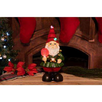12 in. Christmas Gnome Status with Color Changing LED Lights
