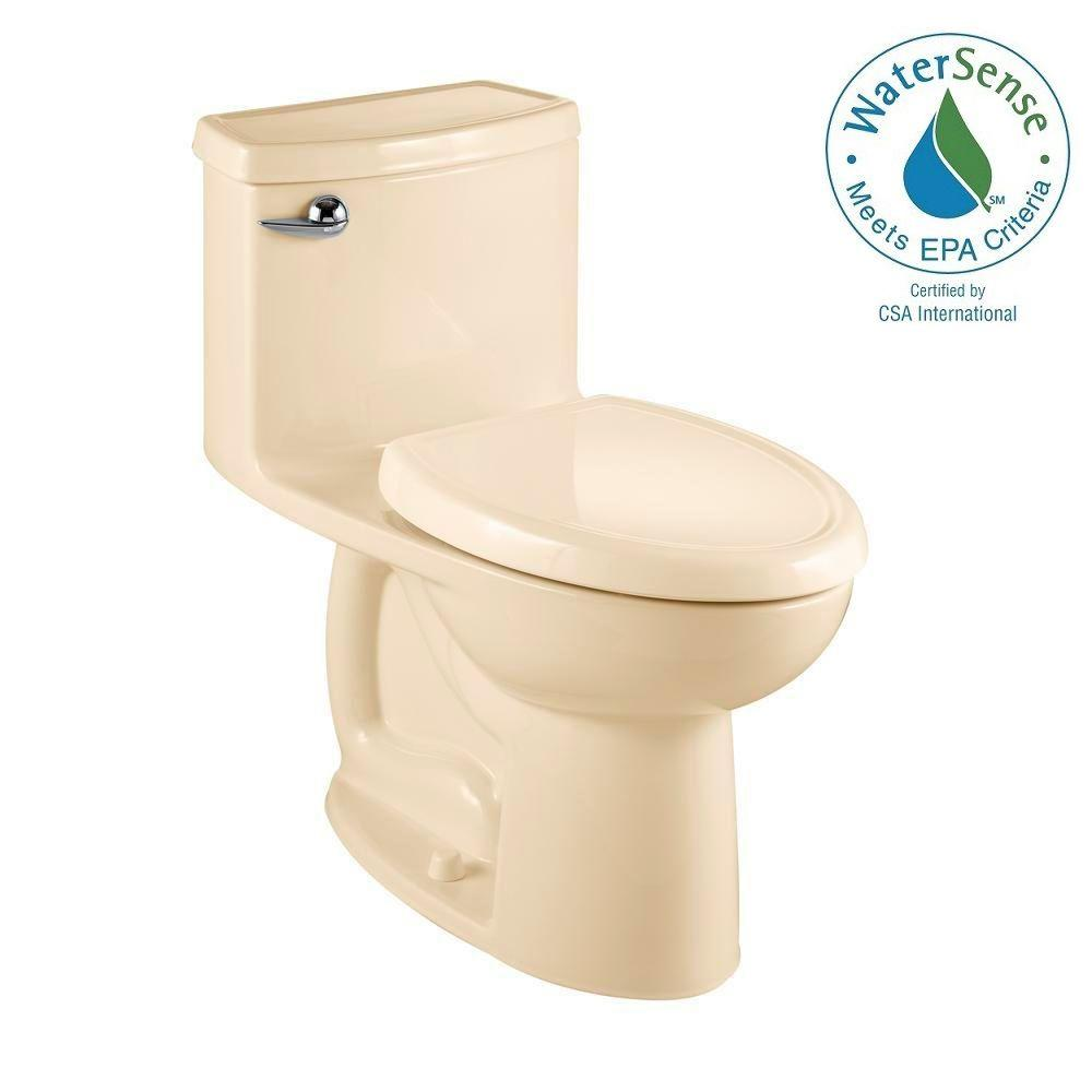 American Standard Compact Cadet 3 FloWise 1-piece 1.28 GPF Single Flush Elongated Toilet in Bone