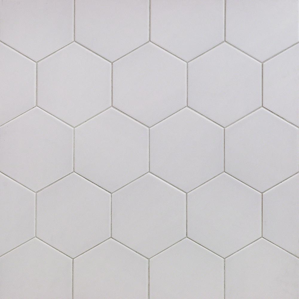ivy hill tile bethlehem hexagon pearl 5 9 in  x 6 96 in  x 8mm matte ceramic wall tile  38