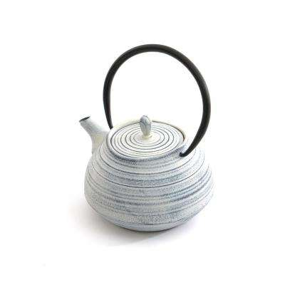4.8-Cup Cast Iron White Teapot